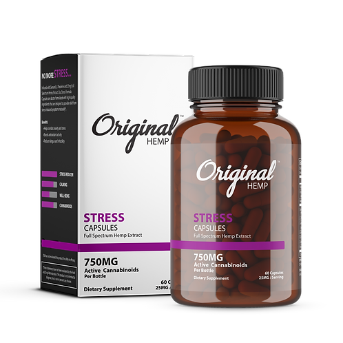 Original Hemp Stress Capsules 750mg CBD
