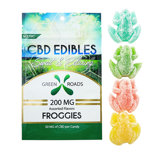 Green Roads Froggies, 200mg CBD Edibles