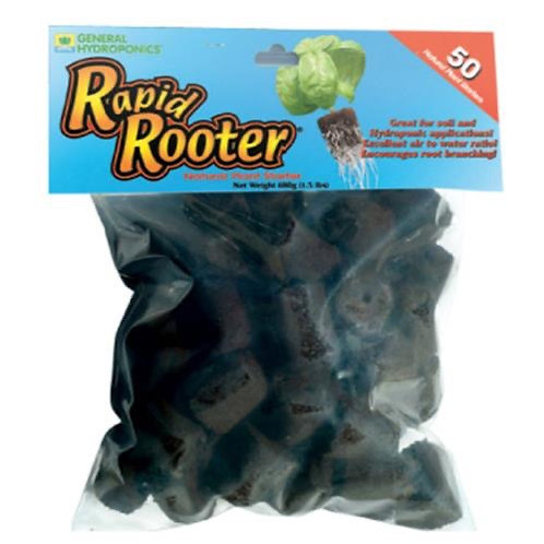 General Hydroponics Rapid Rooter Replacement Plugs 50 Pack