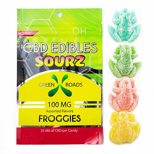 CBD EDIBLES 100mg CBD Sweet/Sourz Froggies