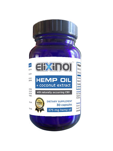 CBD Hemp Oil Capsules  450 MG of CBD Elixinol