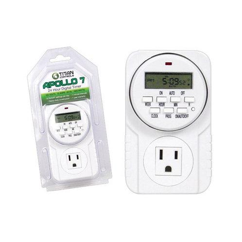 Titan Controls® Apollo® 7 - One Outlet Digital Timer