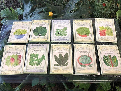 10 Packs Renee's Garden Salad Greens Seed Packs