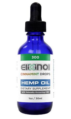 CBD Tincture Hemp Oil Drops 300 mg CBD-Cinnamint Elixinol