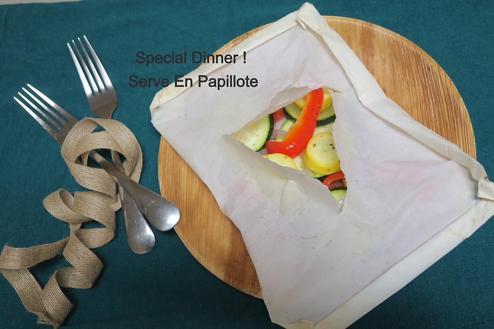 Special Dinner Serve En Papillote