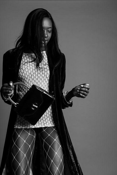 B&W Female Fashion photogrphy