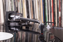 Dj Stylus On Spinning Vinyl, Record Background.jpg