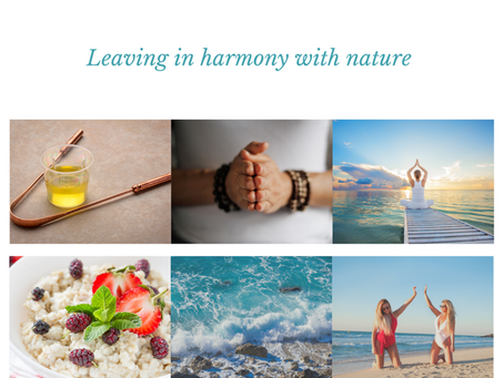Living in harmony with nature ~