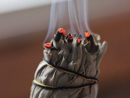 Burning sage to boost energy in your home or office ~