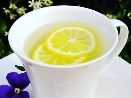 Warm water and fresh lemon