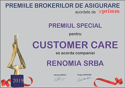Delize Asigurari Premiu Customer Care Renomia SRBA Insurance Broker