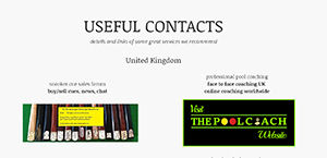cuebalm - cuesports contacts