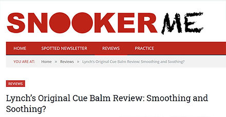 Lynch's cue balm snookerme review