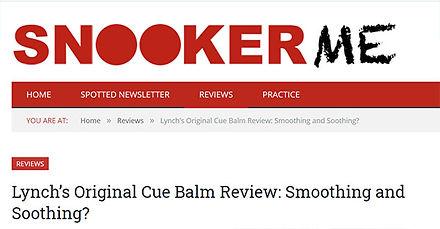 Lynch's cue balm snookerme review