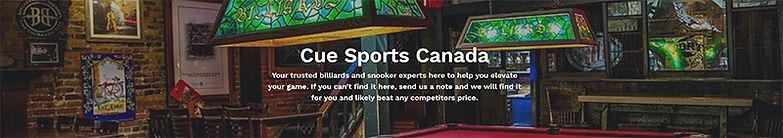cuebalm cue sports Canada website