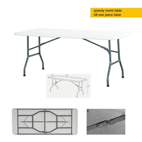 Portable EVENT table - 6ft solid top