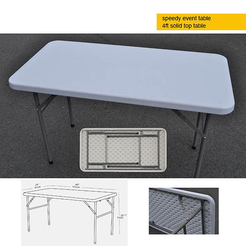 Portable EVENT table - 4ft solid top