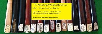 snooker cue sales forum