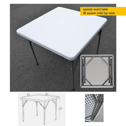 Portable EVENT table - 3ft square