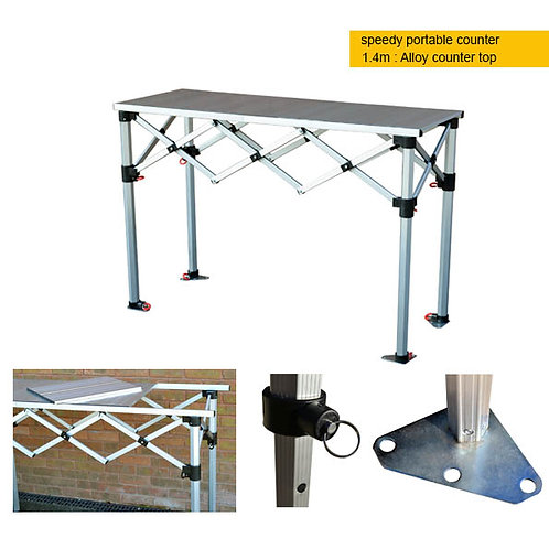Portable Counter - 1.4m alloy top