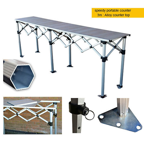Portable Counter - 3m alloy top