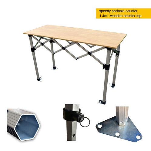 Portable Counter - 1.5m wooden top