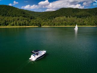 Zdjęcia z powietrza jachty Solina