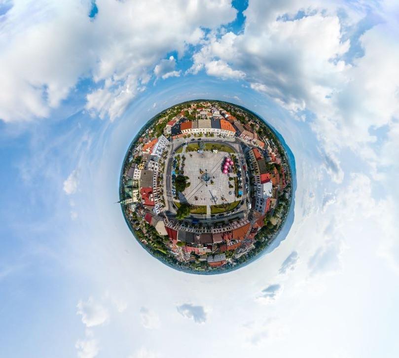 Panorama sferyczna 360 rynek kęty dronteam
