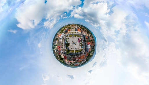 Zdjecia 360 panorama sferyczna z drona Dronteam 2