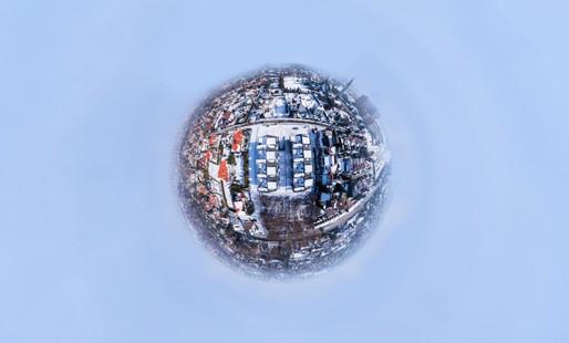 Zdjecia 360 panorama sferyczna z drona Dronteam 4