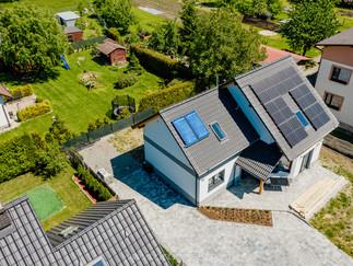 Sesja zdjęciowa instalacji fotowoltaicznej - panele słoneczne + kolektory dla firmy Hewalex Czechowice - Dziedzice