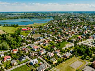 Czechowice - Dziedzice z lotu ptaka - zdjęcie z drona