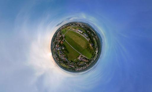 Zdjecia 360 panorama sferyczna z drona Dronteam 3