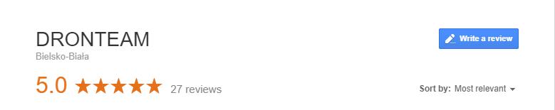 Dronteam - Usługi Dronem & Studio filmowe opinie