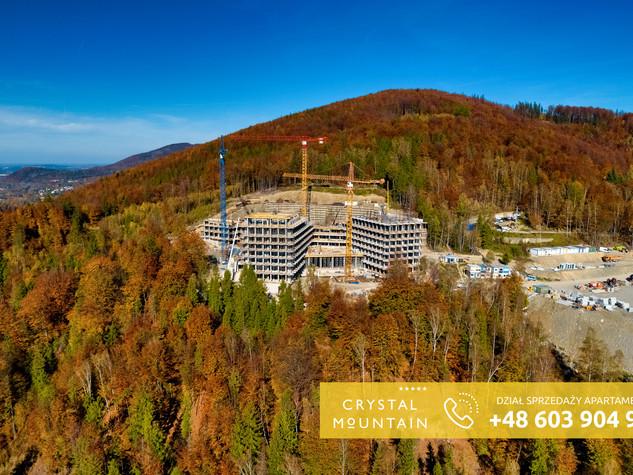 Dziennik budowy z drona - Wisła Crystal Mountain Resort Spa