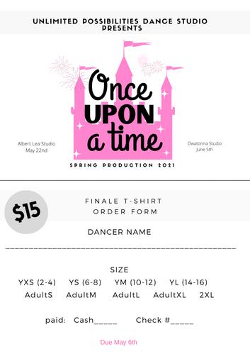 UPDS Finale Shirt Order Form