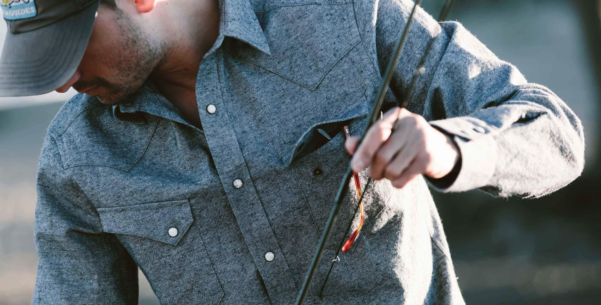 The Western Shirt Upcycled Chambray