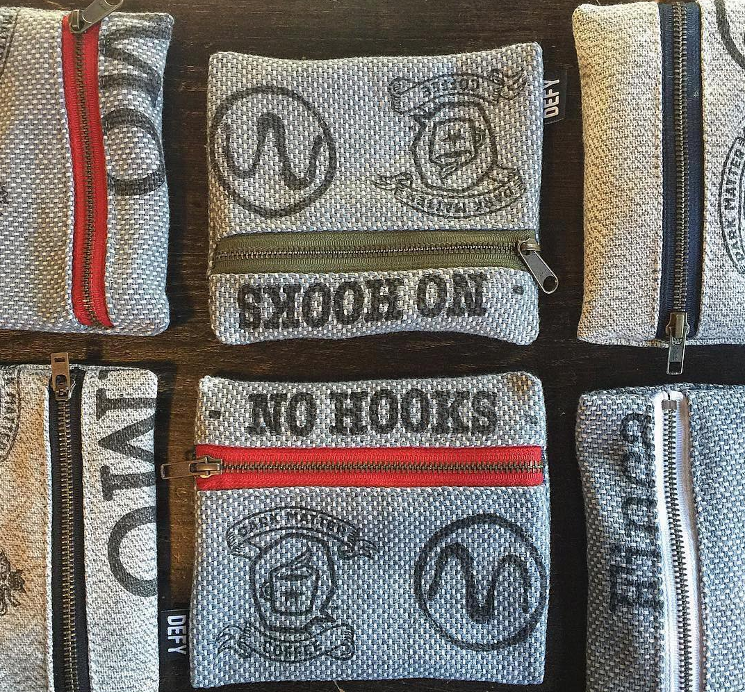 Cosmetic bags made from Coffee Sacks
