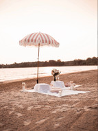Beach Proposal, Private Beach, Pink Theme, Love, Picnic, Flowers, Candles
