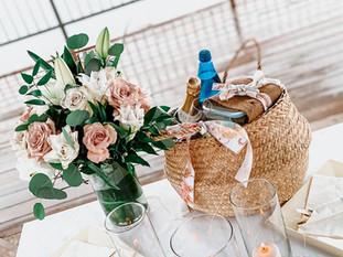 Picnic, Roses, Flowers, Snack, Dessert, Rustic, Rain, Notebook Moment