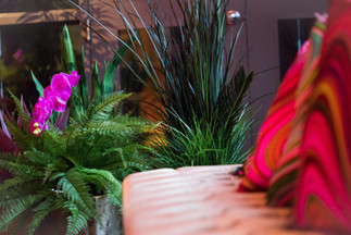 Staff Party, Holiday Party, Tropical, Bright Lights, Flamingo, Cocktail Party, Greenery
