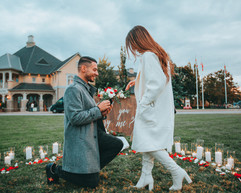 Proposal, Love, Engagement, Decor, Romantic, Lanterns, Candles, Winery, Greenery, Pop The Question