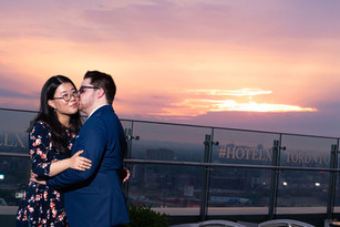 Sunset, Hotel X, Toronto, Pink Sky, Proposal, Romantic, View, City, In Love