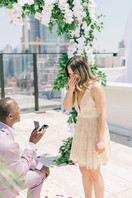 Rooftop, Lavelle, Proposal, Live, Television, Love, Arch, Dress