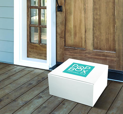 Pop Box Proposals, Proposal In A Box, Proposal Kit, Shipped To Your Door, Everyting Is In The Box