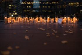 Proposal, Love, Engagement, Decor, Romantic, Lanterns, Candles, City, Night Time