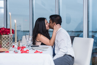 Flowers, Roses, Red, Blush, Proposal, Candles, Romantic, View, City, In Love
