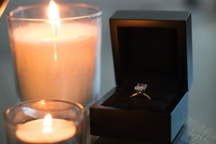 Ring, Candles, Ring Box, Proposal, Before The Moment, Elegant