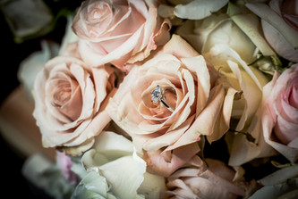 Ring in Flowers, Roses, Pink, Blush, Proposal, Bouquet