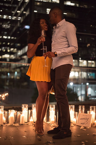 Engaged, Couple, She Said Yes, Love, Champagne, Rooftop, Beautiful